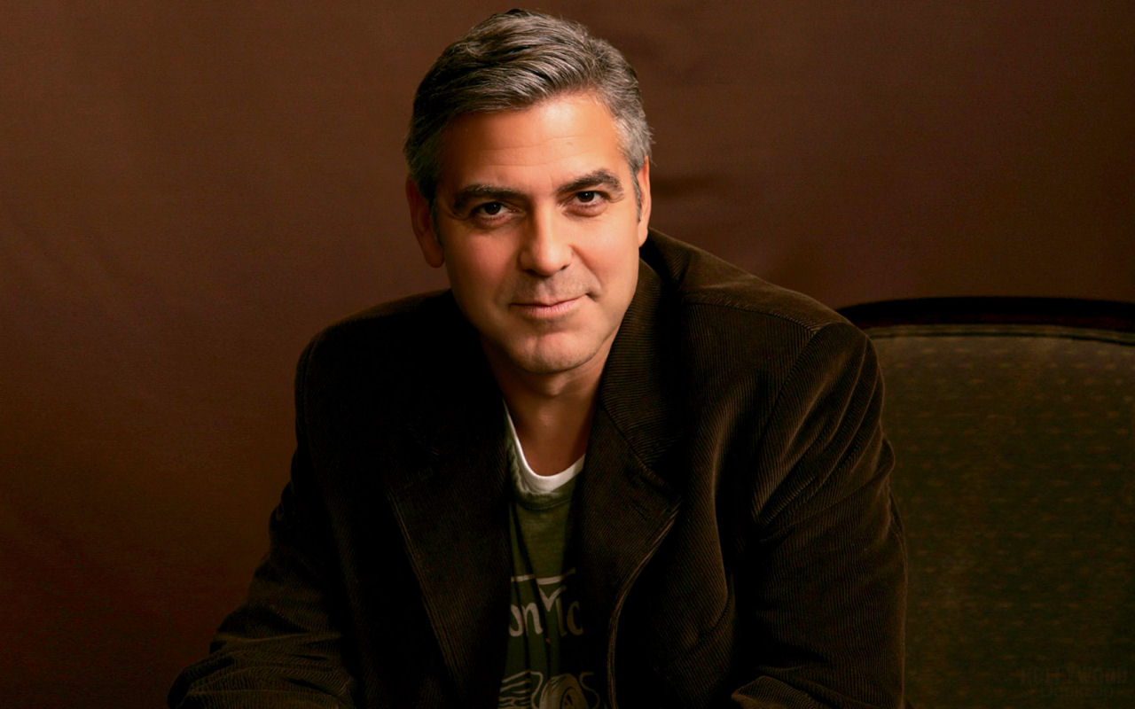 george clooney wallpaperart. Black Bedroom Furniture Sets. Home Design Ideas