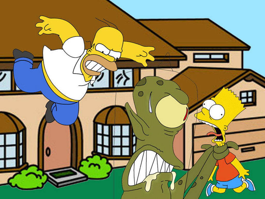 Homer &#038; Bart Simpson