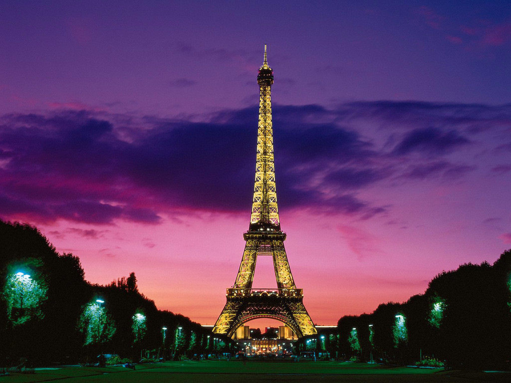 Paris in the evening