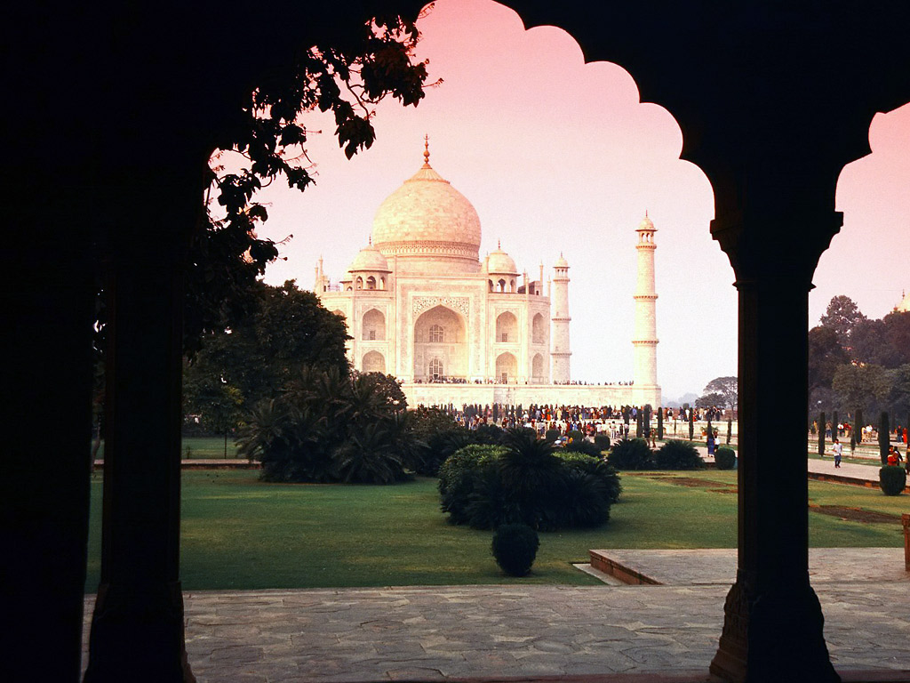 1024x768, Taj Mahal, Wallpaper