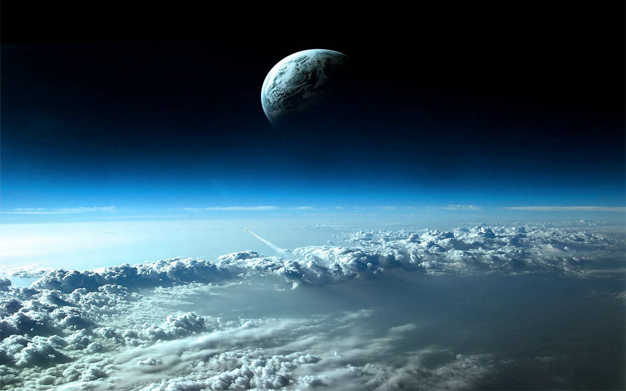 Background space moon earth